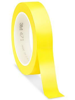 "3M 471 Vinyl Tape - 1"" x 36 yds, Yellow S-10253Y"
