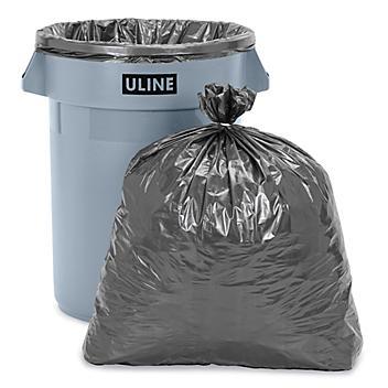 Uline Steel Tuff® Trash Liners - 1.5 Mil, 33 Gallon S-10278