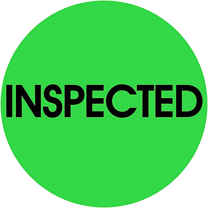 """Circle Inventory Control Labels - """"Inspected"""", 2"""" S-10370"""