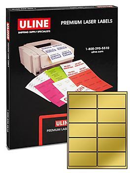"""Uline Foil Laser Labels - 4 x 2"""""""