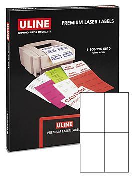 """Uline Laser Labels - White, 4 1/4 x 7"""" S-10438"""