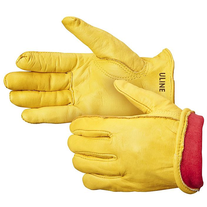 Cowhide Leather Drivers Gloves - Lined, Large S-10443L