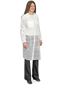 Uline Economy Lab Coat with 1 Pocket, Snap Front - Large S-10483L