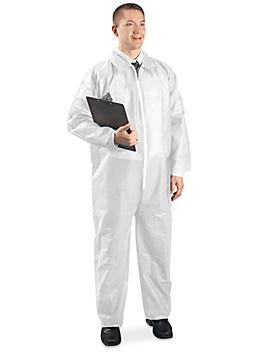 Uline Economy Coverall, Zip Front - White, 3XL S-10484W-3X