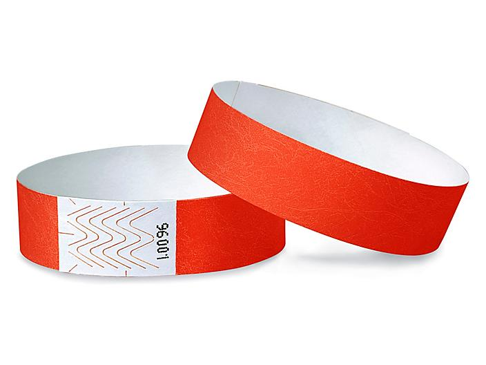 Tyvek® Wristbands - Neon Red S-10751R