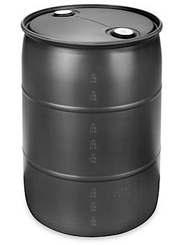 Plastic Drum - 55 Gallon, Closed Top, Black S-10757BL