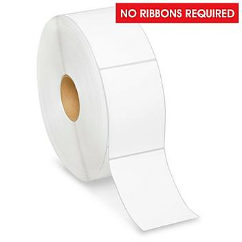 """Industrial Direct Thermal Labels - 12"""" Diameter Roll, No Perf., 4 x 6"""" S-10774"""