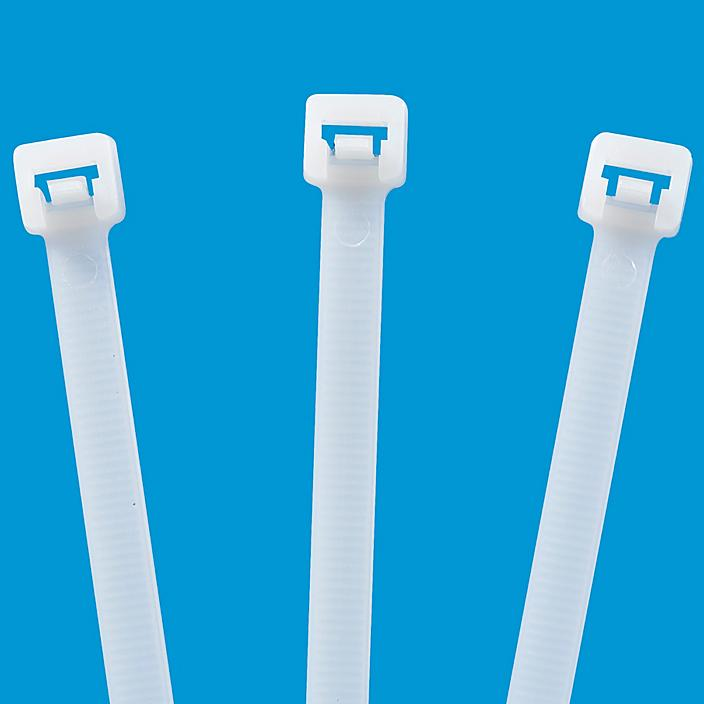 Releasable Nylon Cable Ties - 12, Natural S-11158NAT