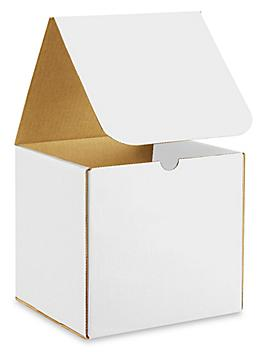 """8 x 8 x 8"""" White Indestructo Mailers S-11238"""