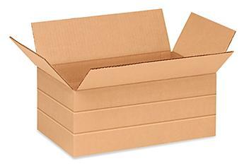 """14 1/2 x 8 3/4 x 6"""" Multi-Depth Corrugated Boxes S-11252"""