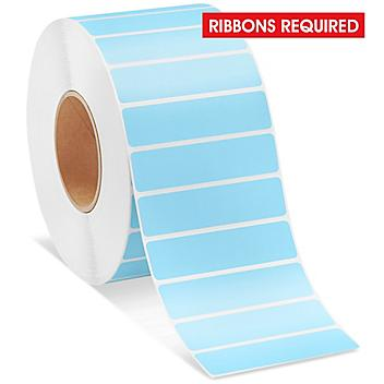 """Industrial Thermal Transfer Labels - Blue, 4 x 1"""", Ribbons Required S-11265BLU"""
