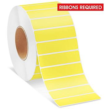 """Industrial Thermal Transfer Labels - Yellow, 4 x 1"""", Ribbons Required S-11265Y"""