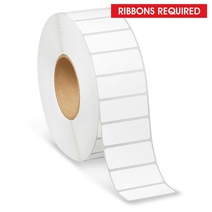 """Industrial Thermal Transfer Labels - 2 1/2 x 1"""", Ribbons Required S-11292"""