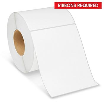 """Industrial Thermal Transfer Labels - 6 x 8"""", Ribbons Required S-11298"""