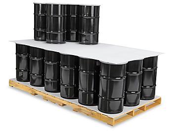 "48 x 96"" Plastic Corrugated Pads - White S-11312W"