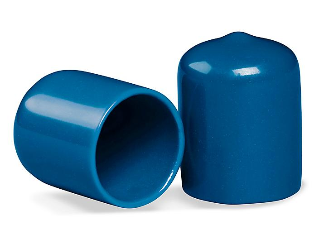"Clear Tube End Caps - 3/4"", Blue S-11365"