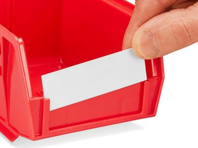 Label Holders and Inserts for Stackable Bins - 3 x 1