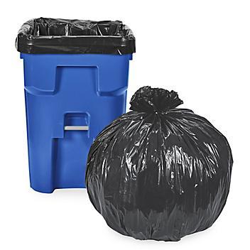 Uline Industrial Trash Liners - 95 Gallon, 2.5 Mil, Black S-12615