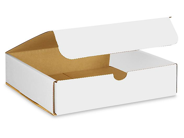 """8 x 8 x 2"""" White Indestructo Mailers S-12662"""