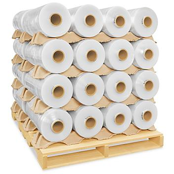 """Machine Length Stretch Film Skid Lot - One-Sided Cling, 70 gauge, 20"""" x 6,500' S-12988S"""