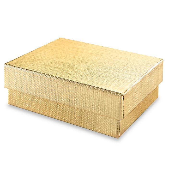 """Jewelry Boxes - 3 1/16 x 2 1/8 x 1"""", Gold S-13078GOLD"""