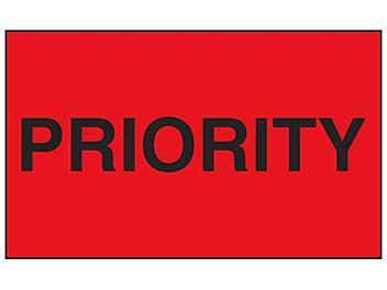 """""""Priority"""" Label - 3 x 5"""" S-13085"""
