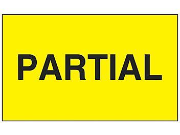 """""""Partial"""" Label - 3 x 5"""" S-13087"""