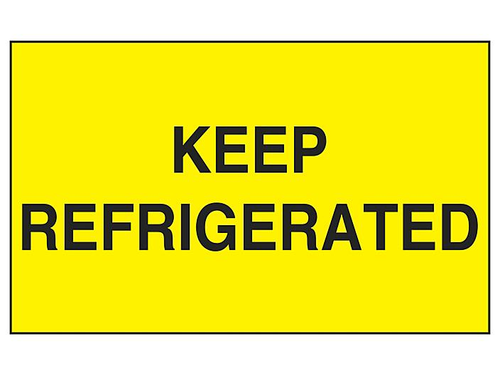 """""""Keep Refrigerated"""" Label - 3 x 5"""" S-13089"""