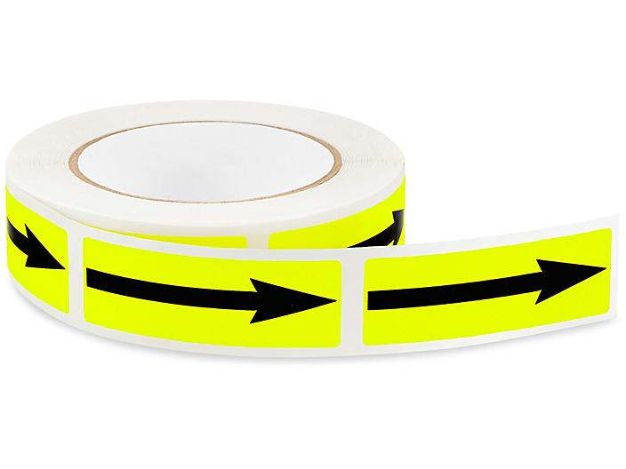 """Inventory Control Labels - Yellow Arrow, 1 x 3"""" S-13121"""