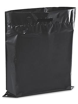 """Die Cut Handle Bags - 15 x 18"""", Black S-13156BL"""