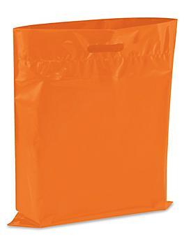 """Die Cut Handle Bags - 15 x 18"""", Orange S-13156O"""