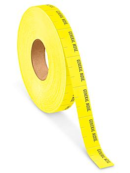 """Monarch 1110® Labels - """"GENERAL MDSE."""", Yellow S-13163"""