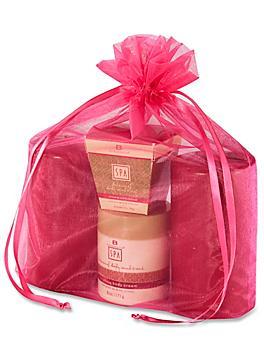 "Organza Fabric Bags - 12 x 14"", Hot Pink S-13170HP"