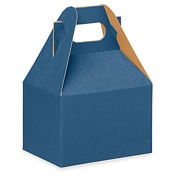 """Gable Boxes - 6 x 4 x 4"""", Blue S-13184BLU"""