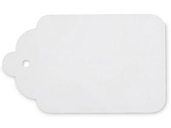 "Merchandise Tags - #8, 1 3/4 x 2 7/8"", Unstrung, White S-13209"