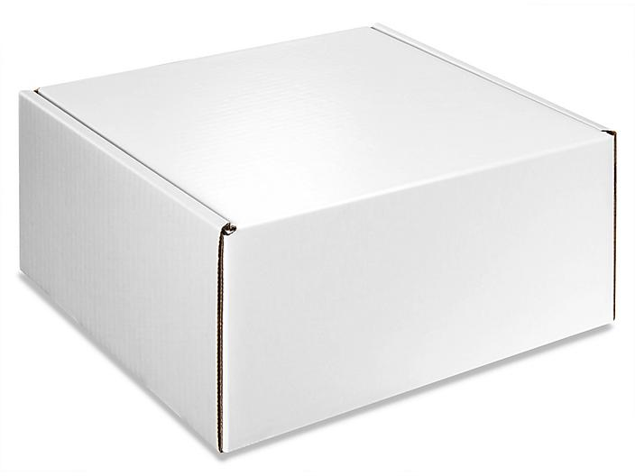 """Colored Mailers - 10 x 10 x 5"""", White Gloss S-13216W"""