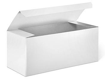 "Gift Boxes - 7 x 3 x 3"", White Gloss S-13225"