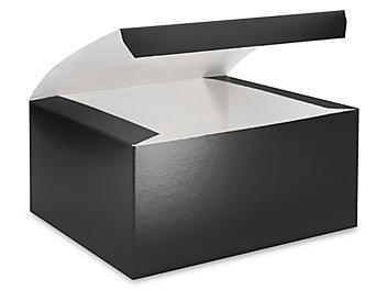 "Gift Boxes - 8 x 8 x 4"", Black Gloss S-13230"