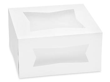 """Window Cake Boxes - 8 x 8 x 4"""", White S-13254"""