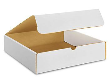 "12 x 12 x 3"" White Literature Mailers S-13276"