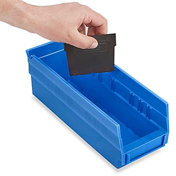 "Dividers for Shelf Bins - 4 x 4"", Black S-13396D"