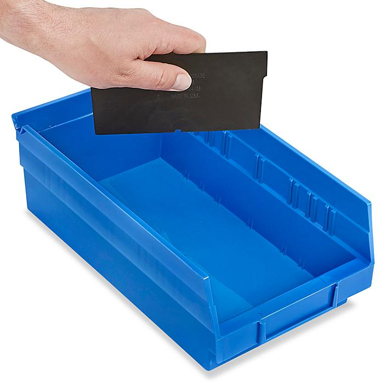 "Dividers for Shelf Bins - 7 x 4"", Black S-13397D"
