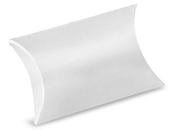 """Pillow Boxes - 3 1/2 x 3 x 1"""", White Gloss S-13402W"""