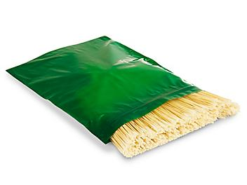 """12 x 15"""" 2 Mil Colored Reclosable Bags - Green S-13428G"""