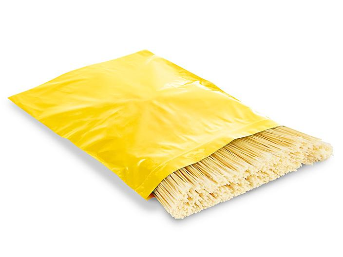 """12 x 15"""" 2 Mil Colored Reclosable Bags - Yellow S-13428Y"""