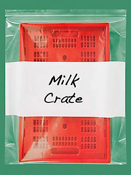 "20 x 24"" 4 Mil White Block Reclosable Bags S-13498"