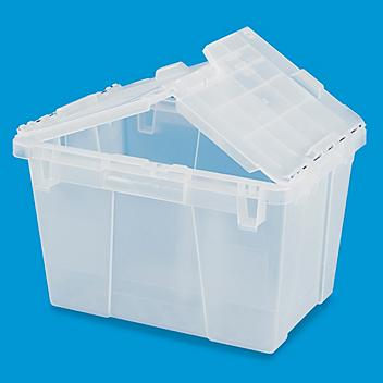 """Clear Industrial Totes - 13.8 x 8.9 x 8.8"""" S-13500"""