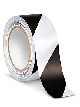 "Uline Industrial Vinyl Safety Tape - 2"" x 36 yds, White/Black S-13512"