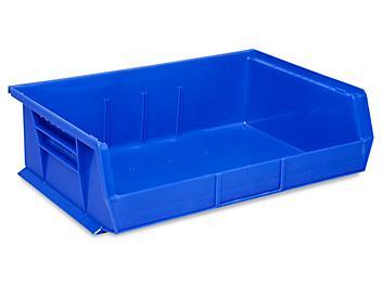 """Plastic Stackable Bins - 11 x 16 1/2 x 5"""", Blue S-13537BLU"""