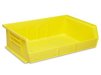"""Plastic Stackable Bins - 11 x 16 1/2 x 5"""", Yellow S-13537Y"""